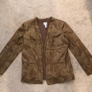 Chico's brown and gold designer jacket